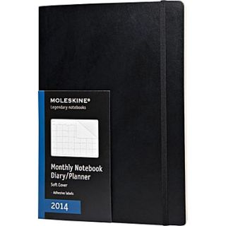 Moleskine 2014 Monthly Planner, 12M, Extra Large, Black, Soft Cover, 7 1/2 x 10  Make More Happen at