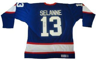 Teemu Selanne Autographed Winnipeg Jets Black Jersey W/PROOF, Picture of Teemu Signing For Us, Anaheim Ducks, Might Ducks Of Anaheim, Winnipeg Jets, San Jose Sharks, Colorado Avalanche, Team Finland, Stanley Cup Champion, 600 Goals at 's Sports Collect