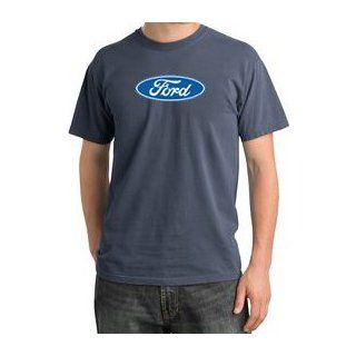 CLASSIC FORD OVAL Logo Car Adult Pigment Dyed T shirt   Scotland Blue Clothing
