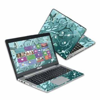 "MightySkins Protective Skin Decal Cover for Asus VivoBook S400CA Laptop 14.1"" screen Sticker Skins Butterfly Blues Computers & Accessories"