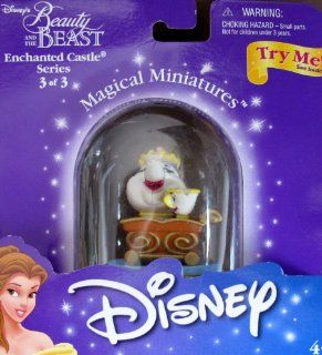 Disney BEAUTY & THE BEAST Magical Miniatures MRS POTTS & CHIP Figure ENCHANTED CASTLE Series 3 of 4 2000) Toys & Games