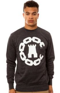 Crooks and Castles Men's Chain C Castle Crewneck Sweatshirt Large Black Speckle at  Men�s Clothing store Athletic Sweatshirts