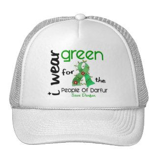 Darfur I WEAR GREEN FOR THE PEOPLE 43 Trucker Hat