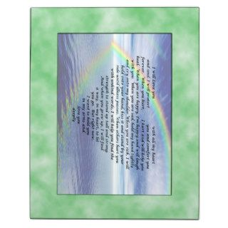 Rainbow Love Poem for Baby Mom and Dad Photo Plaques