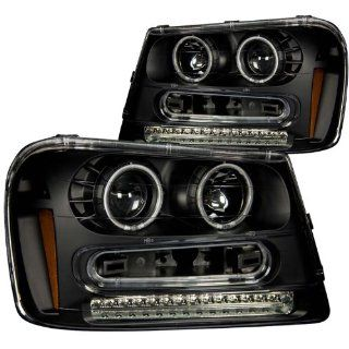 Anzo USA 111127 Chevrolet Trailblazer Black Projectors w/Halos Headlight Assembly   (Sold in Pairs) Automotive