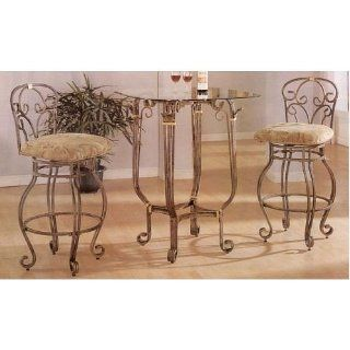 "3pc ""antique Style""casual Bar Table/chair   Home Bar And Bar Stool Sets"