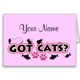 Personalized Got Cats Note Cards
