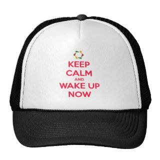 keep calm and wake up now 24.png trucker hats
