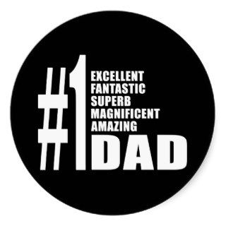 Fathers Day Birthdays Christmas Number One Dad Sticker