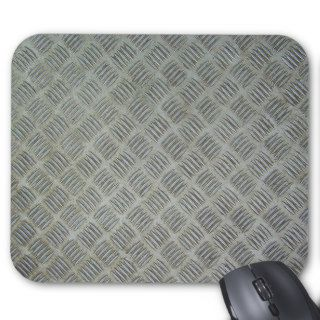 Diamondplated Patterned Metal Texture Panel Mouse Pads
