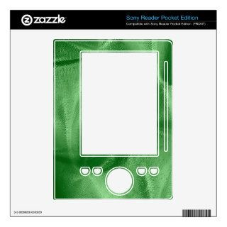 Crumpled Light Green Lame' Metallic Fabric Photo Decals For Sony Reader