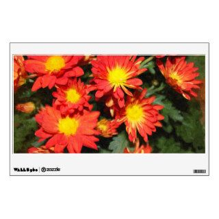 Golden,orange color daisy flowers. room decal