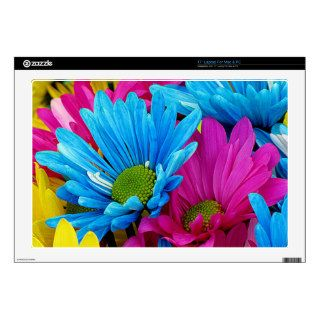 "Colorful Daisies 17"" Laptop Decals"