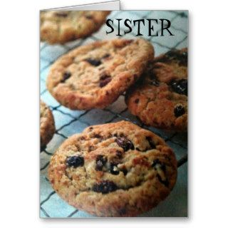 ONE SMART COOKIE SISTER BIRTHDAY GREETING CARDS