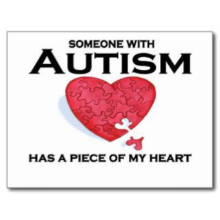 Autism has a piece of my heart post cards