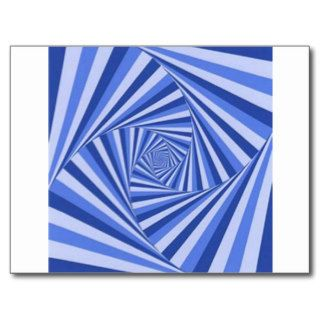 Blue Spiral Maze Design Post Card