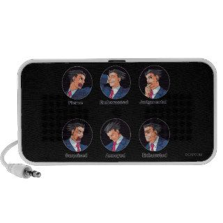 Phoenix Wright Emoticons Laptop Speakers