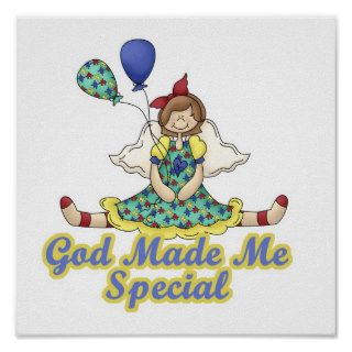 God Made Me Special Autism Awareness Poster