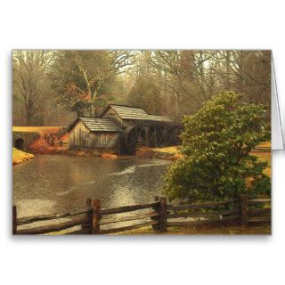 Old Mill Greeting Cards