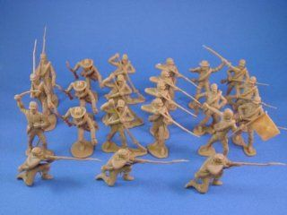 Marx Playset Commemorative Reissue Civil War Confederate Toy Soldiers in Butternut 22 Piece Set