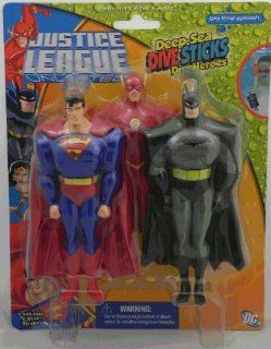 Justice League Unlimited * Deep Sea Dive Sticks / Dive Heroes * Batman / Superman / Flash Toys & Games