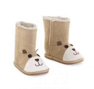 Mud Pie Unisex Baby Newborn Faux Suede Bear Boot, Multi Colored, 9 12 Months Clothing