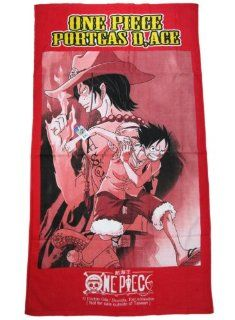 Red One Piece Anime Towel   One Piece Anime Beach Towel Toys & Games