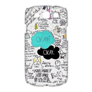 Custom Your Own Funny Okay The Fault in Our Stars  John Green 3D SamSung Galaxy S3 19300 Best Design Plastic Case Cell Phones & Accessories