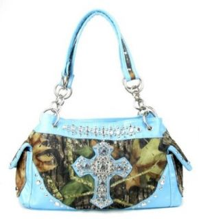 Western Blue Camouflage Cross Rhinestone Handbag Shoes