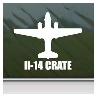 Il 14 Crate White Sticker Decal Military Soldier White Car Window Wall Macbook Notebook Laptop Sticker Decal   Decorative Wall Appliques