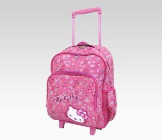 Hello Kitty Pink Leopard Rolling Backpack