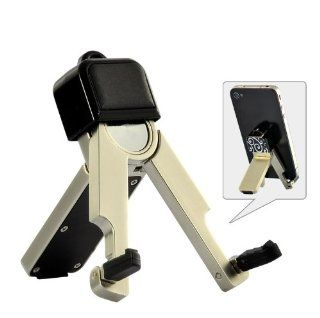 BW Portable Folding Mini Smartphone Holder Stand   iPhone, iPod, Samsung, HTC, and Others   Black Add White Cell Phones & Accessories