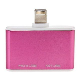 Lightning Male to Micro and Mini USB Adapter for iPhone 5, iPad mini and Others Cell Phones & Accessories