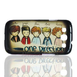 Super Star Cartoon One Direction 1d Pattern Hard Case Protective Cover for Samsung Galaxy S3 S 3 III I9300, I747 (Verizon, Sprint, T mobile, At&t) Cell Phones & Accessories