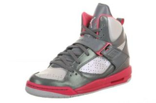 NIKE Jordan Flight 45 High Kids' Basketball Shoes, Black/Vivid Pink Shoes