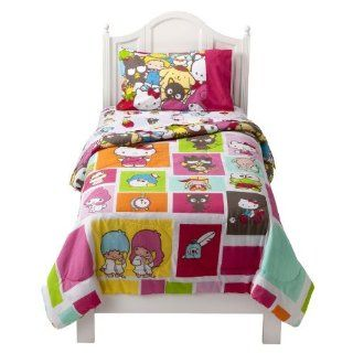 "Hello Kitty ""Kitty and Friends"" Comforter   Twin   Childrens Comforters"