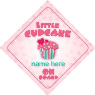 Little Cupcake On Board Personalised Car Sign New Baby Girl / Child Gift / Present  Child Safety Car Seat Accessories  Baby