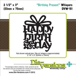 Die Versions Whispers Birthday Present Scrapbooking Die Cuts
