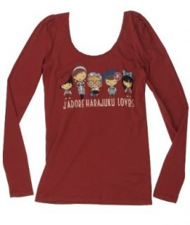 Harajuku Lovers Frenchie Group Long Sleeve Tee Shirt (SMALL)