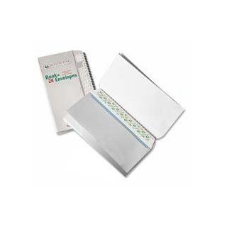 "Quality Park Products Products   Envelopes, Book Of Envelopes, No 10(4 1/8""x9 1/2"")36/PK, White   Sold as 1 PK   Book of No. 10 envelopes are conveniently packaged in a bound book format containing 36 envelopes. Envelopes stay together for travel"