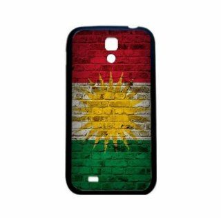 Kurdistan Brick Wall Flag Samsung Galaxy S4 Black Silcone Case   Provides Great Protection Cell Phones & Accessories
