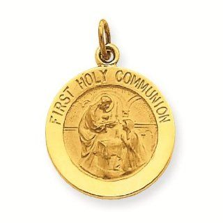 14k First Holy Communion Charm Pendant   Gold Jewelry Reeve and Knight Jewelry