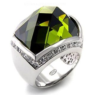 Jewelry   Sterling Silver Olivine CZ Cocktail Ring SZ 5 Jewelry