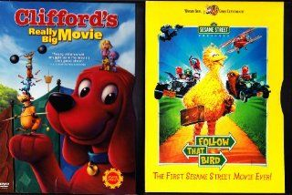 Sesame Street Follow That Bird , Clifford's Really Big Movie  Family Movie Night 2 Pack Movies & TV