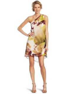 Maggy London Women's One Shoulder Printed Dress