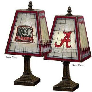 Alabama Crimson Tide Art Glass Table Lamp Memorabilia.  Sports Related Collectibles  Sports & Outdoors