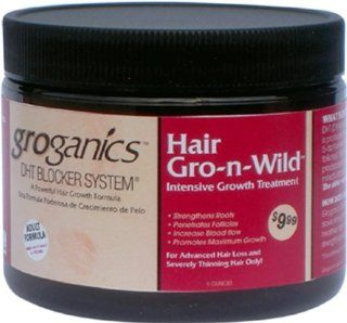 Groganics Hair Gro N Wild, 6 Ounce  Hair Regrowth Treatments  Beauty