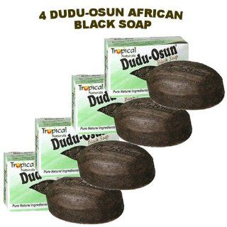 Dudu Osun African Black Soap (100% Pure) 150g Pack of 4  Bath Soaps  Beauty