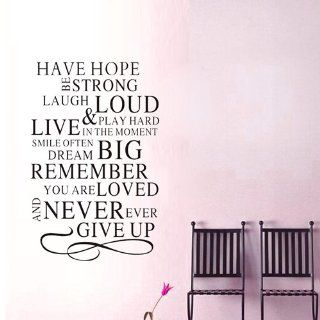 "15.7"" X 23.6"" Have Hope Be Strong Laugh Loud Wall Saying Decal Wall Art Decor Removable Stylish Sticker Mural DIY Vinyl D�cor for Room Home.  Nursery Wall Decor  Baby"