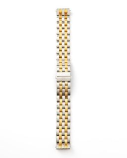 16mm Urban Mini Two Tone Watch Bracelet, Stainless/Gold   MICHELE   Gold (16mm ,